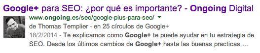 Snippet Google Resultado