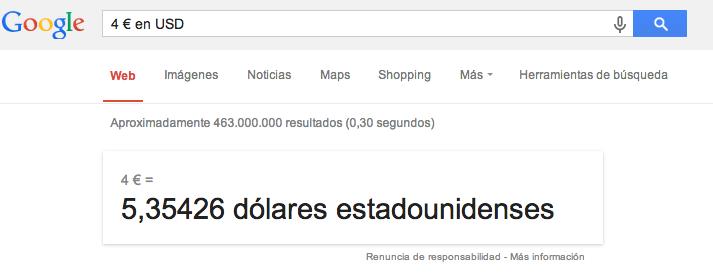 euros a dólares